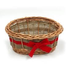 empty wicker gift basket ribbon by prestige wicker notonthehighstreet