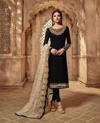 Latest Bollywood Salwar Suit Designs Marvelous Black Straight Cut Salwar Kameez
