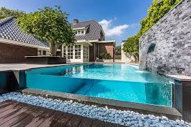 Dream Backyard Garden With Amazing Glass Swimming Pool iDesignArch