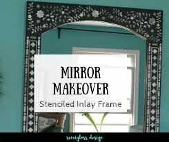 Budget Stencils Boho Inspired Mirror Makeover With An Inlay Stencil