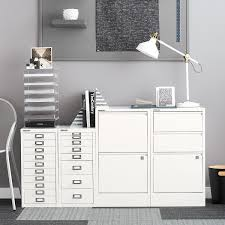 Five Drawer Filing Cabinet Bisley White 5 Drawer Cabinet The Container Store