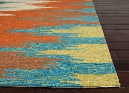 capricious teal and orange area rug 6