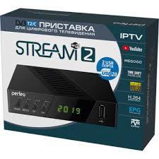 """<b>Perfeo</b> DVB-T2/<b>C</b> приставка """"STREAM-2"""" для цифр.TV, Wi-Fi, IPTV ..."""