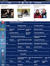 tv listings. the tv guide is very easy to use and well laid out \u2013 although featured listings at top seem too big me taking up way much screen real tv