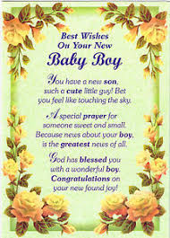 Congratulations On Your Baby Boy New Baby Boy Greeting Card Gifts Birthday Friends Family