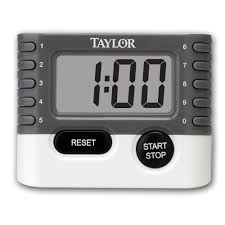 taylor 10 key digital kitchen household baking timer 1 2 lcd readout 6 pack