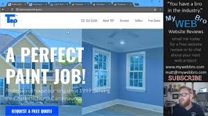 top house painting charlotte nc website review by matt mywebbro com