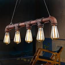 metal pendant lighting fixtures. vintage pendant lights metal water pipe lamp steampunk lamps e27 bulbs warehouse bar lighting fixtures