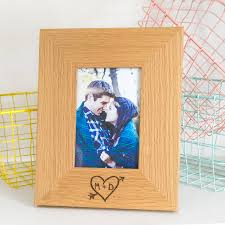personalised carved heart photo frame