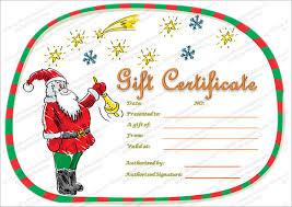 Christmas Present Voucher Templates Christmas Gift Certificate
