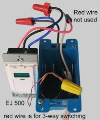 how to wire ej500 timer single pole only 2 wires in box follow same instructions above