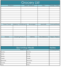 grocery checklist template grocery price book template excel learn about 28 of printable