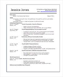 Resume Template Teenager