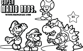 Mario Luigi And Yoshi Coloring Pages And And Coloring Pages Awesome