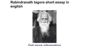rabindranath tagore short essay in english google docs