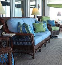 wicker sunroom furniture sets. dark brown wicker with blue cushions sunroom furniturecottage furniture sets