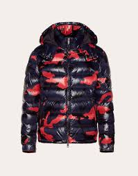 camouflage down coat
