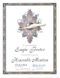 Honorable Mention Certificate Honorable Mentions Eugiefoster Com