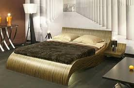 Unique Bed Frame Ideas For Bedroom Interior. Modern White And Dark  Chocolate Leather