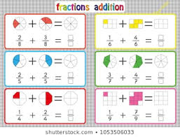 Fraction Chart Sheet Royalty Free Fraction Stock Images Photos Vectors
