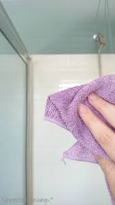 how to clean shower glass step 4