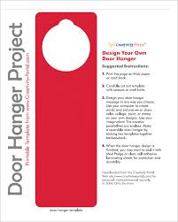Door Hanger Design Template Interesting Door Hanger Template Psd Engneeuforicco