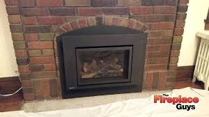 replace fireplace insert glass with wood burning stove