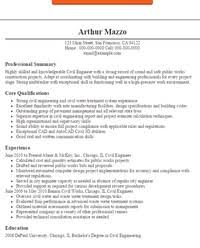 Resume Objectives Civil Engineering With Sample For