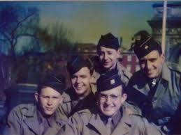 photo essay when my great uncle liberated a nazi concentration  jules helfner bottom right in new york city s washington square park friends in 1945 jules helfner