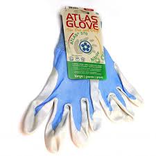 blue atlas touch screen compatable garden gloves gloves by