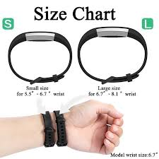Fitbit Alta Wrist Size Chart 12 Pack Silicone Replacement Bands For Fitbit Alta Alta Hr And Fitbit Ace Classic Sport Band Accessories For Fitbit Alta Women Men