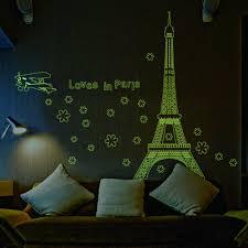 Paris Wallpaper Bedroom Aliexpresscom Buy Love In Paris Night Eiffel Tower Plane Flower