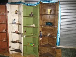 corner shelves from old doors recyclart