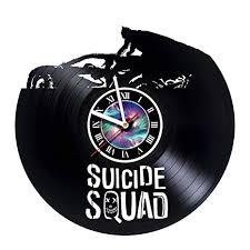 Record Gifts Amazon Com Kravchart Suicide Squad Vinyl Record Wall Clock Get