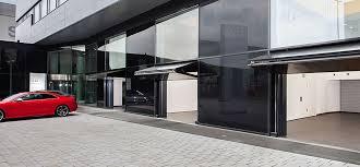 bi fold garage doorsTwo Inspiring Examples of BiFolding Up and Down Garage Doors