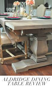 want a restoration hardware style dining table this blogger found the aldridge dining table that