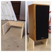 diy speaker stand w 5 degree tilt super easy if you have a table