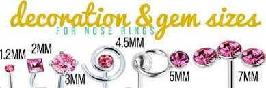 Nose Stud Gauge Size Chart Nose Ring Sizing How To Get A Perfect Fit Bodycandy