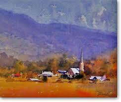 Mudgee Town - - Ross Kurtz, Watercolour Paintings by Australian ...