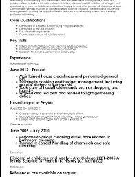 Housekeeping Resume Sample Housekeeper Resume Housekeeping Attendant