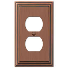copper outlet covers. Perfect Outlet Hampton Bay Tiered 1 Duplex Outlet Plate  Antique Copper Cast In Covers A