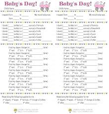 Printable Baby Schedule Template Andbeyondshop Co