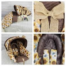 burlap bow baby girl car seat cover