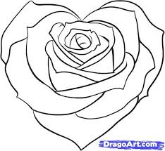 Small Picture Coloring Pages Rose Drawing Pictures Pencil Flower Maxvision