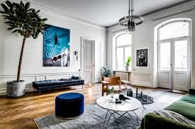 large scandinavian apartment, bohemian style living, eclectic apartment  design, mid century furniture,