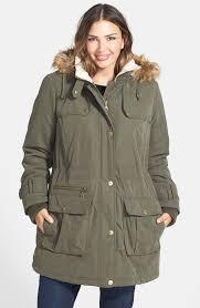 plus size parka dkny faux fur trim parka plus size dkny brand pinterest fur