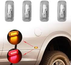 2016 Ram 2500 Led Bed Lighting 5 Led Side Marker Lights For 2010 2018 Dodge Ram 2500 3500 Hd Dually Trucks Rear Bed Fender Lights Replaces 2x Amber 2x Red