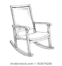 rocking chair drawing. Unique Drawing Rocking Chair Isolated On White Background Sketch A Comfortable Chair  Vector Illustration With Chair Drawing R