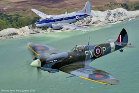 spitfire ex. win a flight beside spitfire, in the ex-bbmf de havilland devon spitfire ex