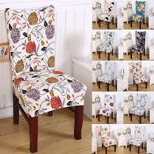short dining room fl chair seat removable elastic stretch slipcovers cover decor in chair cover from home garden on aliexpress alibaba group